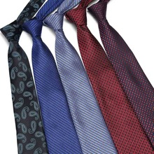 Fashion Striped Neckties Corbatas Gravata Jacquard 7.5 cm luxury ties Men Tie Business mans Wedding dress Slim