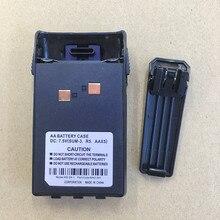 Honghuismart caja de batería 5XAA con clip de cinturón para Wouxun KG UVD1P,KG669P 679P 639P 689P 839 KG UV6D etc walkie talkie KG 2A 1