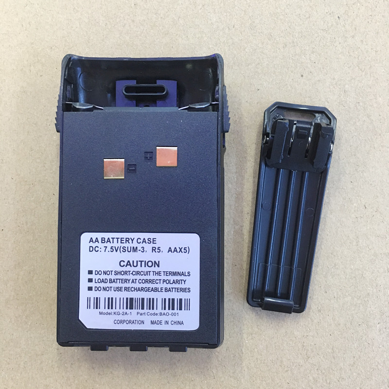 Honghuismart Battery Case 5XAA With Belt Clip For Wouxun KG-UVD1P,KG669P 679P 639P 689P 839 KG-UV6D Etc Walkie Talkie KG-2A-1