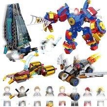 Marvel Avengers 4 Super Hero Legoings Captain Ant Man Wasp Spiderman Black Panther Building Blocks Toys For Children