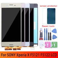 Tested NEW Display For SONY Xperia X F5121 F5122 LCD Display Touch Screen Digitizer Assembly Replacement 5.0 For SONY X LCD