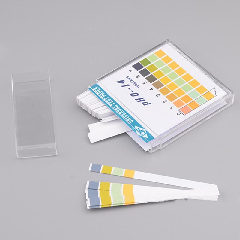 100 Strips 0-14 PH Test Strip Alkaline Acid Indicator Paper Universal Lab Test Paper For Liquid Soil Aquariums Measuring Tools
