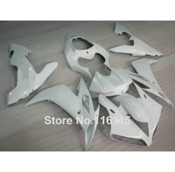 Injection molding fairings set for YAMAHA YZF R1 2004 2005 2006 all white ABS plastic fairing kit YZF-R1 04 05 06 SK25