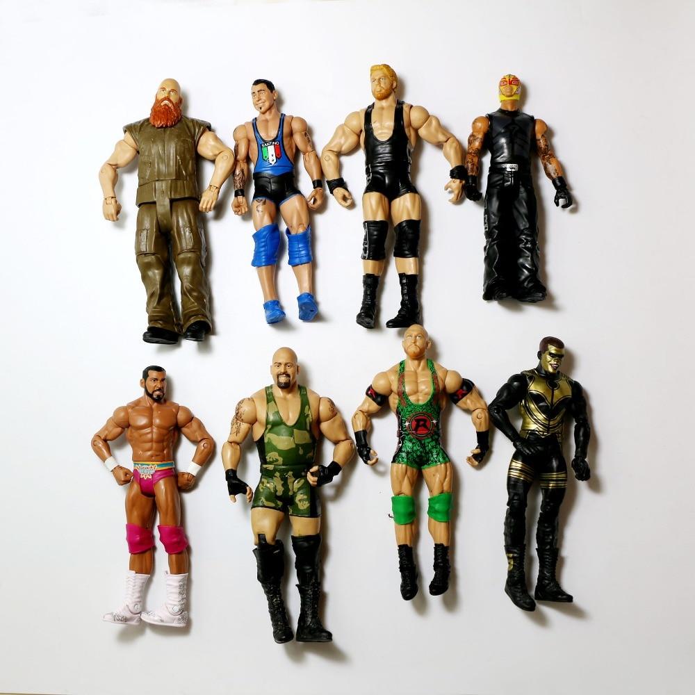 Image 4 - Wholesale 10Pcs/lot Occupation Wrestling Gladiators Movable Multi Joint Model Dolls Wrestler Action Figure toys Free ShippingAction & Toy Figures   -
