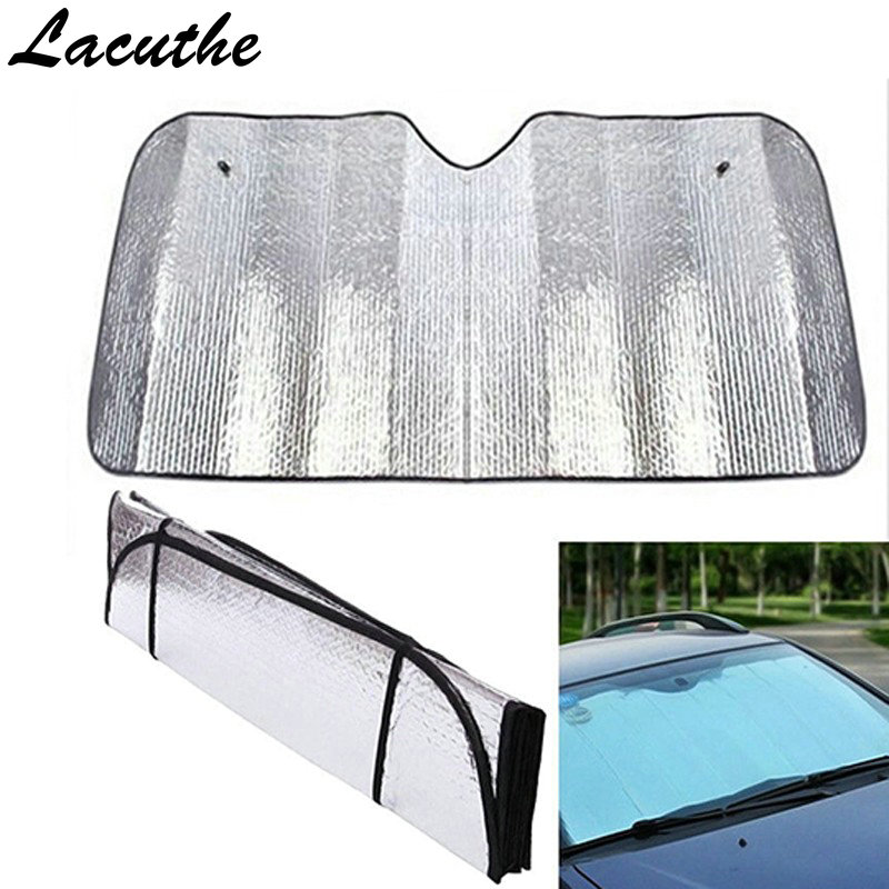 140*70CM Universal Reflective Car Aluminum Foil Windscreen Sunshade Front Window Sun Shade Windshield Visor Cover UV Protect