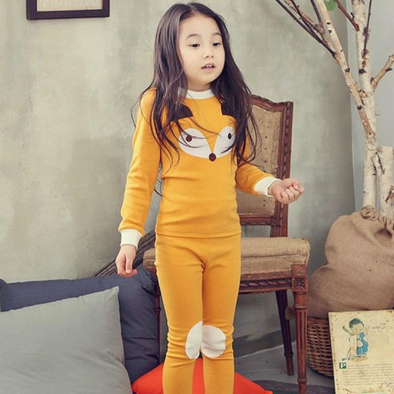 Syue Moon Girls Pajamas Sets 2017 Kids Cute FOX Pyjamas Children 100%cotton Sleepwear Baby Boy Homewear Nightwear Clothes