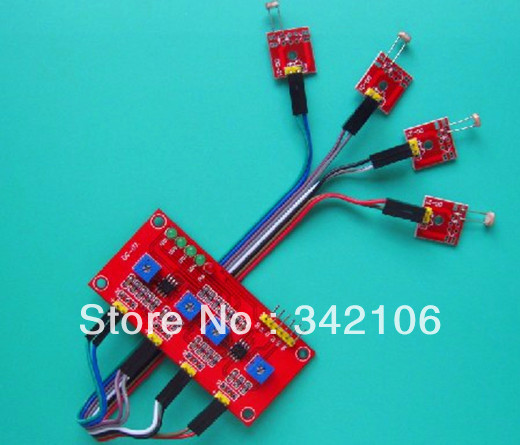 Free Shipping!!!  4-way light-sensitive sensor module detects light sensitive resistor module sensorFree Shipping!!!  4-way light-sensitive sensor module detects light sensitive resistor module sensor