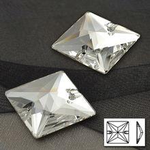 Klar Kristall 3240 Platz 12mm 14mm 16mm 22mm Nähen auf Strass Kristalle Nähen Rhinestone Flache rückseite Kristallsteinen Perlen
