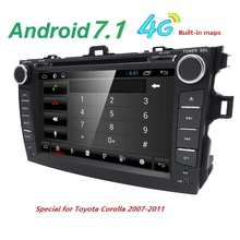 android 7 1 font b car b font dvd player for Toyota corolla 2007 2008 2009