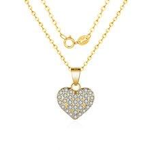 Fashion Necklaces 2019 Charm Gold Necklace Pendant Flash CZ Zircon Love For Women Girls Jewelry Wholesale