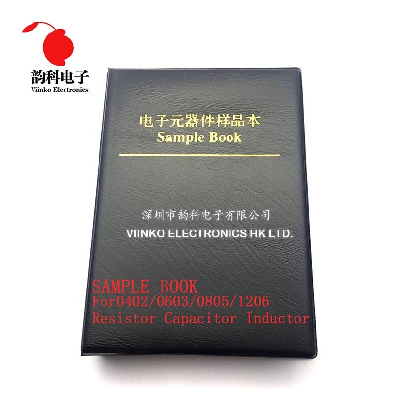 Пустые компоненты SMD для индуктора конденсатора резистора, пустые образцы для электронных компонентов 0402/0603/0805/1206, 20 страниц