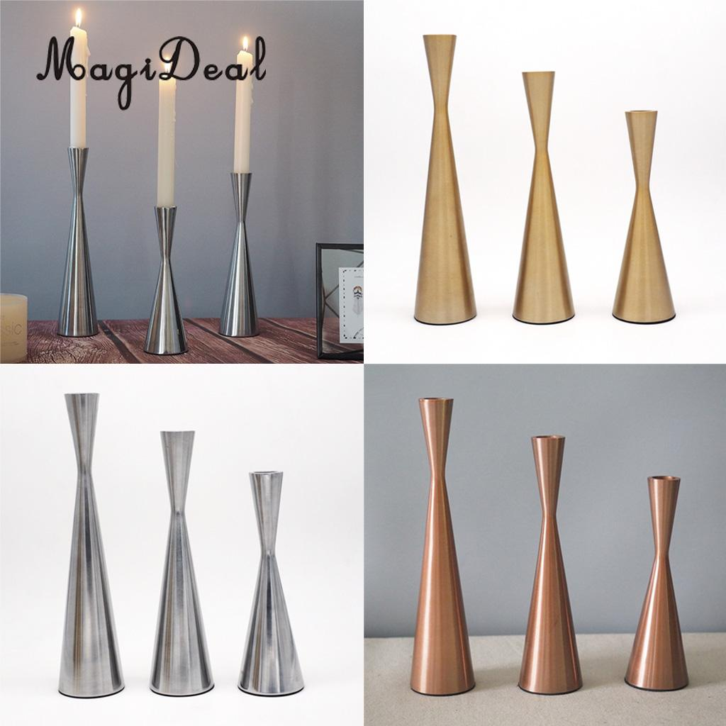 Taper Dinner Pillar Candle Holder Candlestick for Home Wedding Party Church Decoration