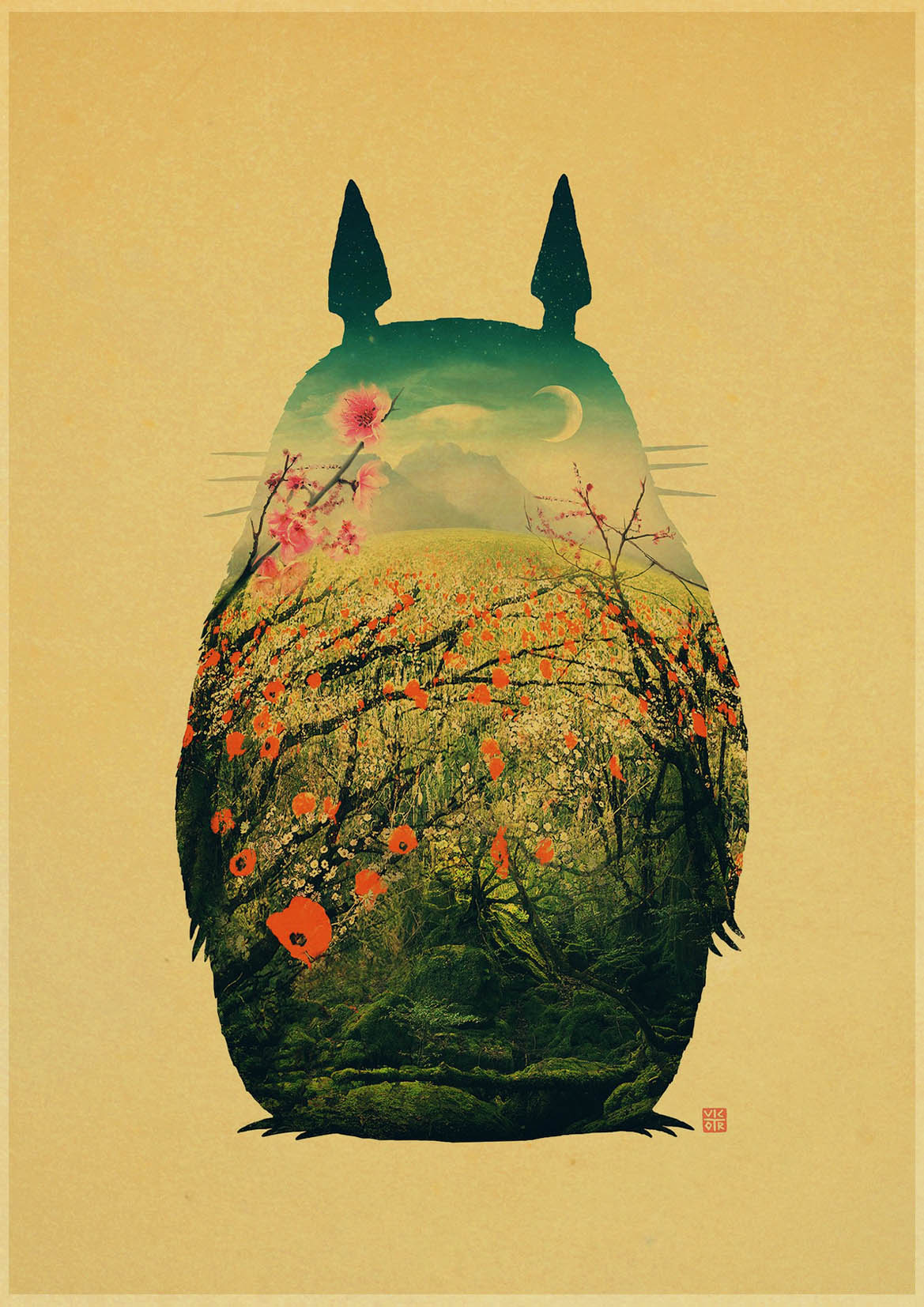 Luxury Totoro Wall Decor Festooning - Wall Art Collections ...