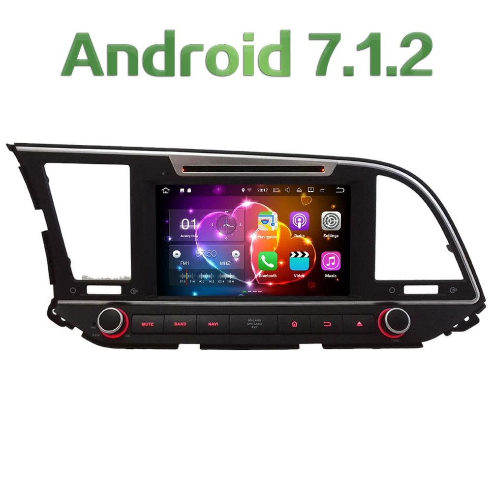Android 7.1 8'' HD 2GB RAM Quad Core 4G DAB WiFi Multimedia Car DVD Player Radio Stereo GPS Navi For Hyundai Elantra 2016 2017 10 1 tda7851 android 7 1 for hyundai ix35 tucson 2015 2016 2017 2gb ram car dvd player gps map rds radio wifi 4g bluetooth 4 0