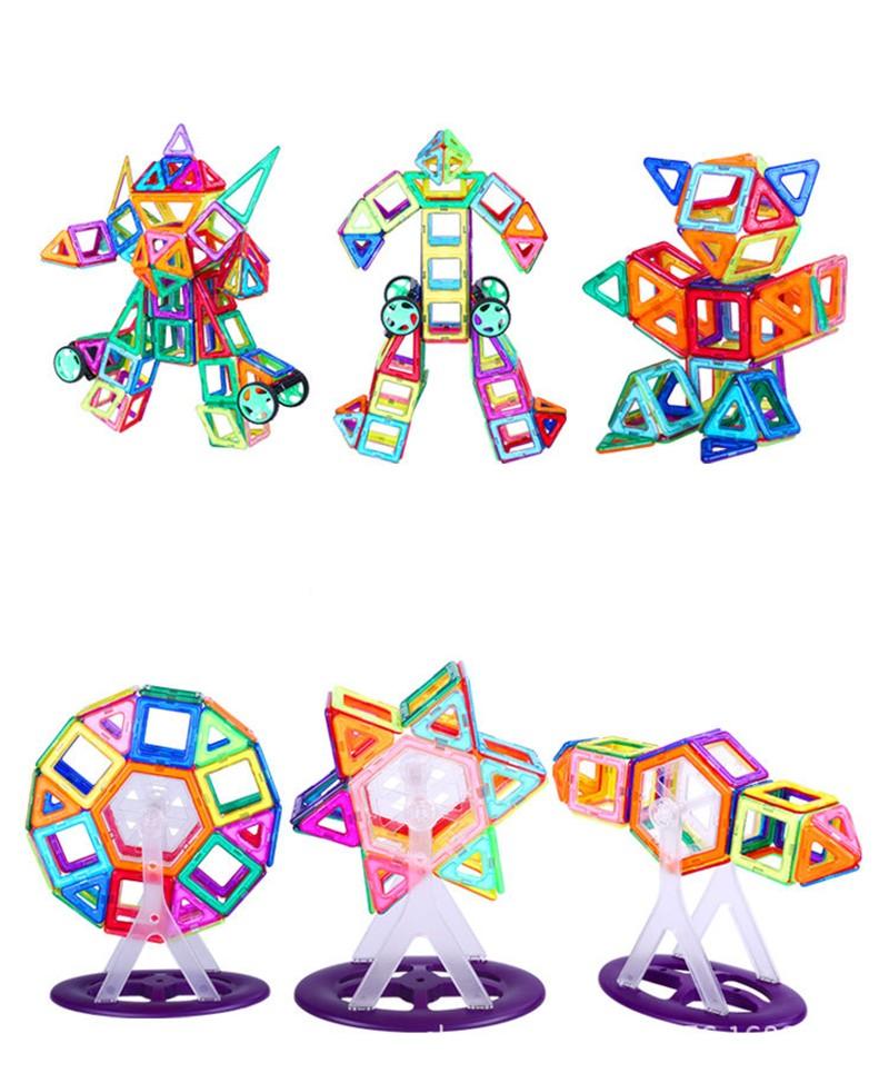1 ШТ. Стандартный размер магнитного строительные блоки 24 различных прибл детские развивающие игрушки, пластиковые игрушки diy блоки