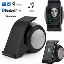 Xiamelon 2 In1 Bluetooth Stereo Portable Speaker with Mobile Fast Wireless Charge for For Mobile Phone Samsung Iphone Tablet PC