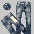 Calças de Brim dos homens de Moda Dieselers Jeans Rasgado calças de Brim Dos Homens de Alta Qualidade, 100% Algodão, de Alta Qualidade, Além de Tamanho Livre grátis