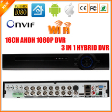 16CH AHD Digital Video Recorder 16 Channel AHDH 1080P AHD DVR With 6CH  Audio Input Alarm I/O 3 IN 1 Hybrid AHD DVR AHDH 1080P