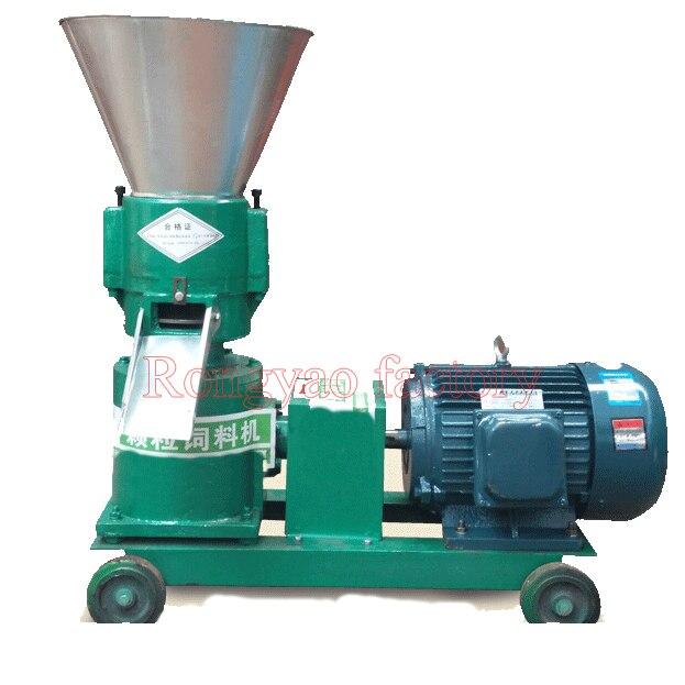200 300kg/h RY KL200 Animal rabbit pellet making machine homeuse flat die feed pellet machine poultry feed pellet mill