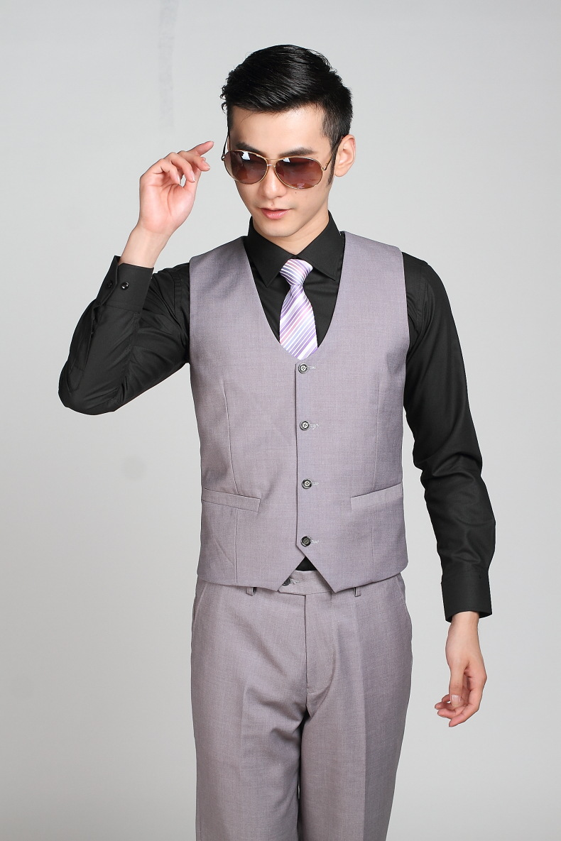 Boutique De Fgg China Sizes 3xl Light Gray Color Men Formal Suit
