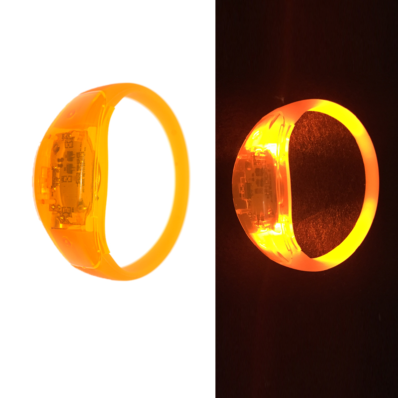 Sound Control Concert Voice Control LED Light Bracelet Bangle Sound Activated Glows Rave  Festival wedding Party decor