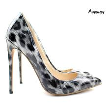 Aiyoway Fashion Women Ladies High Heel Pumps Leopard Pattern Stiletto Autumn Winter Office Party Shoes Slip On US Size 5-15