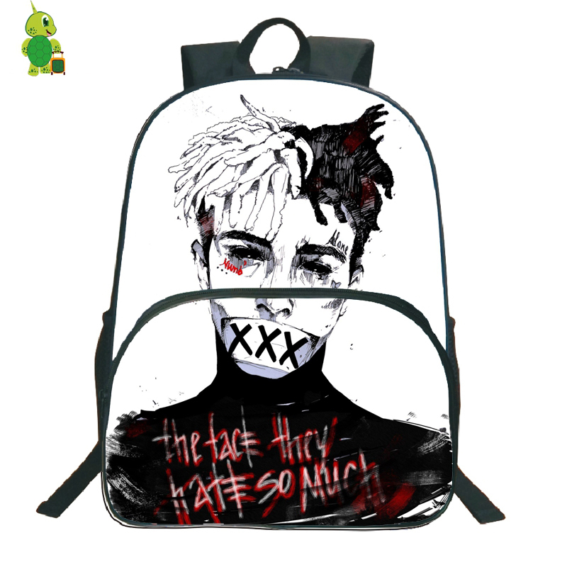 Popular Rapper Xxxtentacion Backpack School Bags For Teenagers Students Large Capacity Book Bags Women Men Daily Backpack