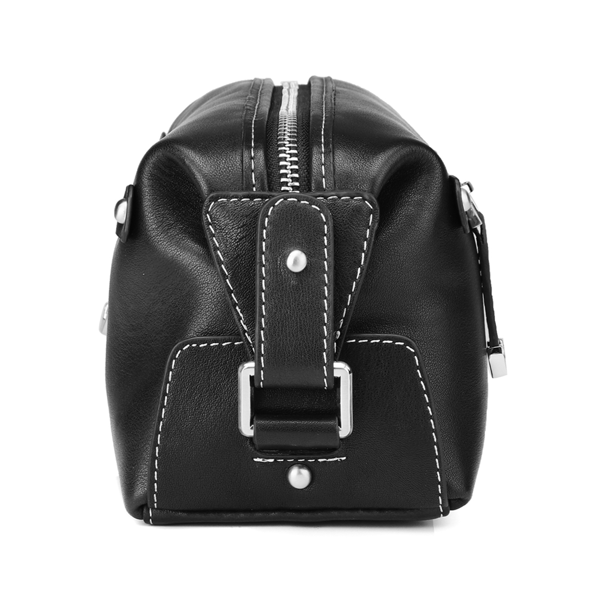 HT Genuine Leather Day Clutches Men Handbags Black Handy Bags Zipper Male Purses Cow Leather Square Top Handle Bags Zipper-in Top-Handle Bags from Luggage & Bags    2