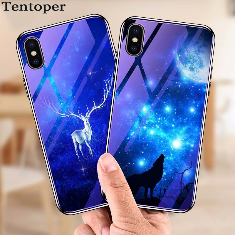 online store 277fd a5c56 US $3.99 10% OFF|Blue Light Tempered Glass Cases For Xiaomi Redmi 5 Plus  Xiaomi mi 8 se Case for iPhone X 6 6s 7 8 Plus P20 Flower Pattern Cover-in  ...