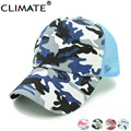 CLIMATE Summer Colorful Camouflage Mesh Trucker Fishing Hunting Caps bucket hats for adult man woman adjustable gorras