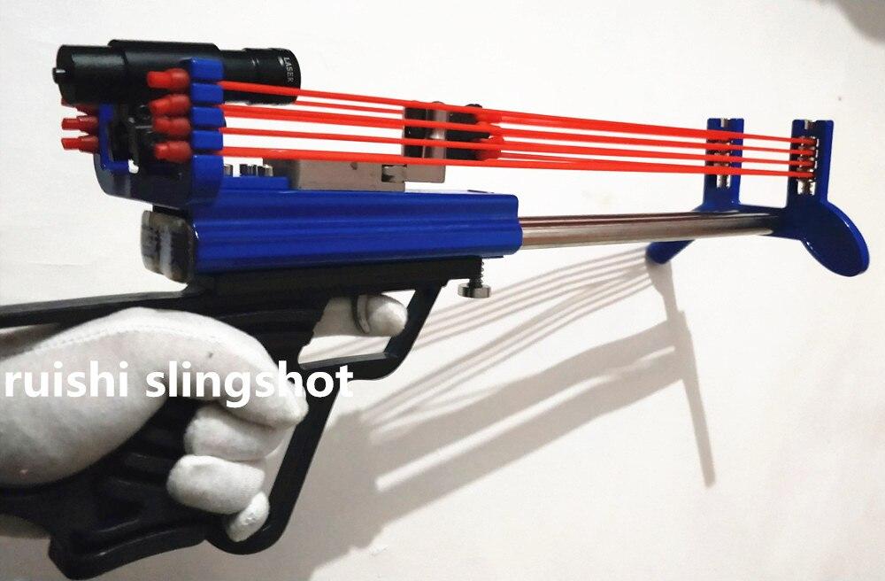 Special Mini Creative recanting slingsho bore mechanical slingshot Outdoor shooting toys Hunting tools Long - range strike DIY