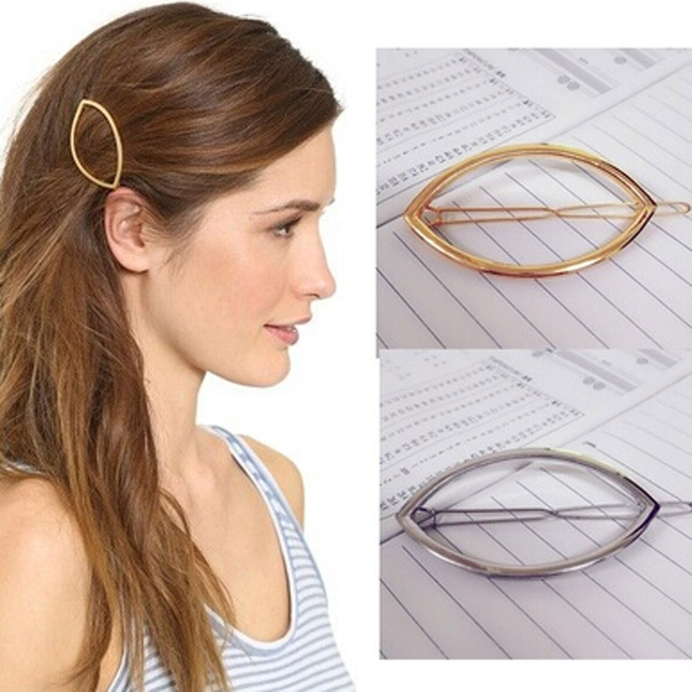 Fashion Geometric Hairpins Simple Hair Clip Barrettes ...