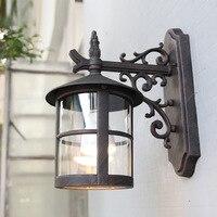 Ретро настенный светильник в деревенском стиле открытый настенный светильник водостойкий круглый наружный декоративный настенный светил