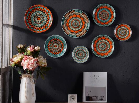 7pcs Per Handpaint Ceramic Plate Home