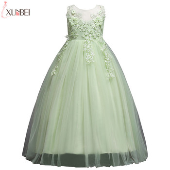 Lovely Flower Girl Dresses Lace 2020 Appliqued Ball Gown Pageant Dresses For Girls First Communion Dresses Kids Prom Dresses flower girl dresses tulle appliqued lace pageant dresses for girls first communion dresses kids prom dresses