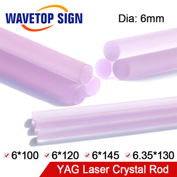Free Shipping WaveTopSign Laser Welding Machine Crystal Rod Laser Cutting Machine YAG Crystal Rod 6*100 6*120 6*145 6.35*130