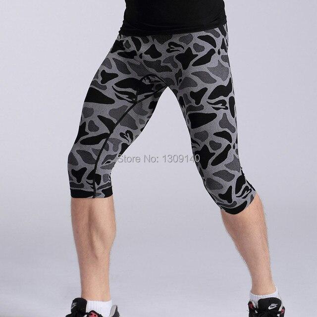 Men  short  Pants Fitness Male Waist  Pant Leopard Black Blue Tight Shaper Underwear ma35