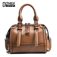 DIZHIGE Brand Top Handle Bags High Quality PU Leather Ladies Handbag Luxury Women Shoulder Bags Designer