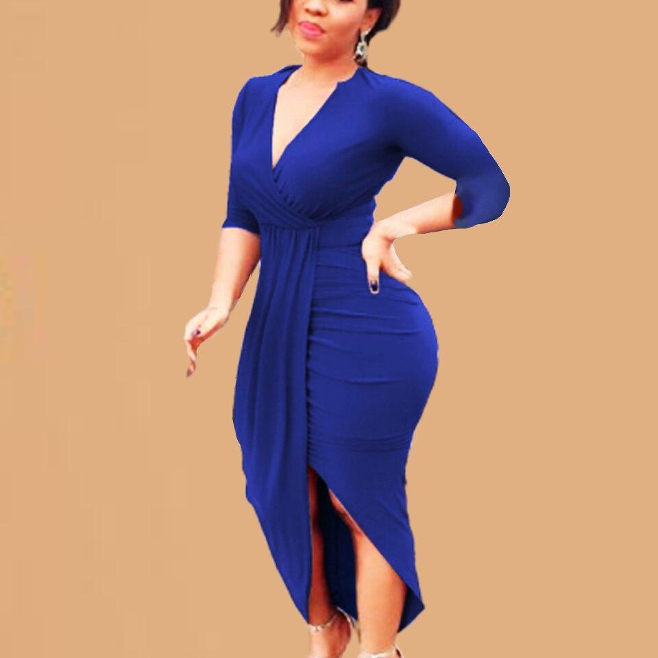 High Front Slit Dress Clothing For Big Women Party Night Sukienka