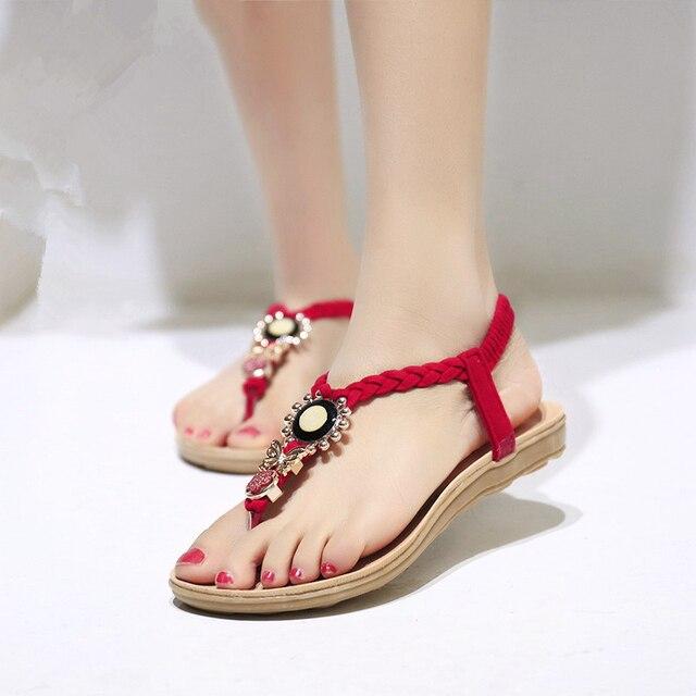 Filles femme Sandals Chaussures Sandales plates mR84eCO