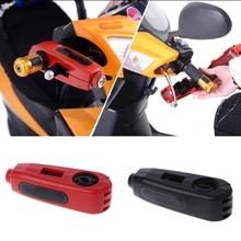 Universal Motorcycle Scooter Handlebar Safety Lock Brake Throttle Grip Security Lock Anti Theft Protection Security Lever Lock