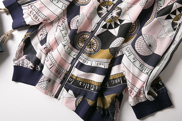 New baseball collar printed silk air conditioning cardigan is prevented bask in clothes - 3