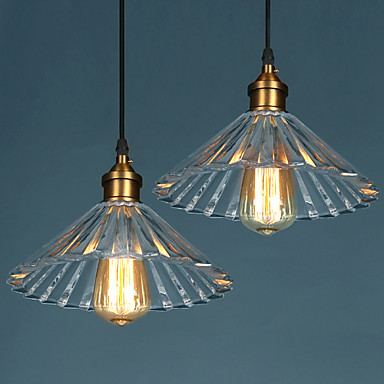 Edison Retro Loft Vintage Industrial Lighting Pendant Lights Fxitures With Glass Lampshade Handing Lamp Lamparas vintage rustic metal lampshade loft edison pendant lamp lights retro iron hanging lamp fixture industrial lighting lamparas