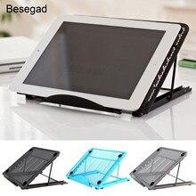 Besegad Collapsible Laptop Cooling Bracket Adjustable Stand Holder Bracket for iPad