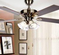 European Antique Ceiling Fan Lights Fixture American Vintage Fan Ceiling Lamps Home Indoor Lighting Restaurant Dining Room Lamp