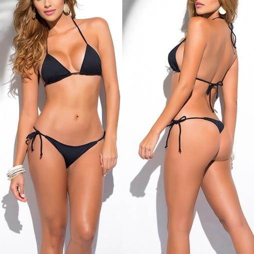 Qatı Bənövşəyi Klassik Thik Bikini Qadın Mayo Yay çimərliyi - İdman geyimləri və aksesuarları - Fotoqrafiya 6