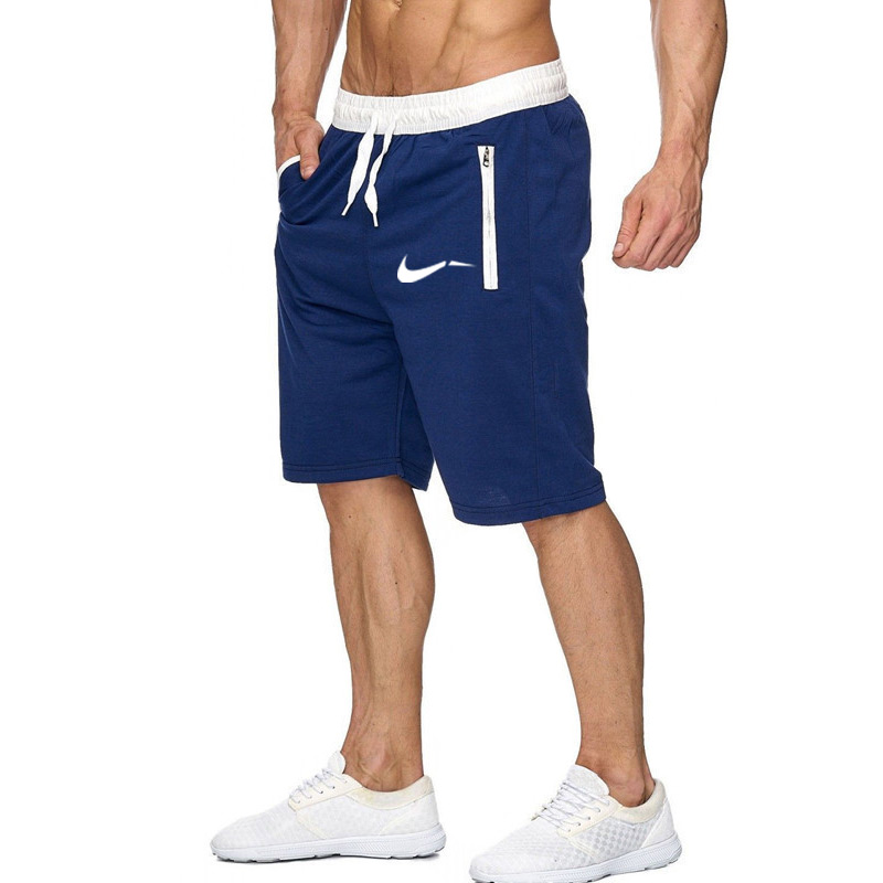 Color patchwork Men jogger   shorts   sports   shorts   men's Bermuda   shorts   2019 summer men's casual men's knee long   shorts
