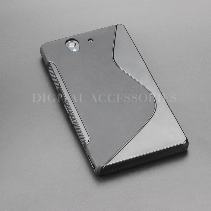 8 Color S-Line Anti Skidding Gel TPU Slim Soft Case Back Cover For Sony Xperia Z L36h C6602 C6603 Mobile Phone silicone Cases