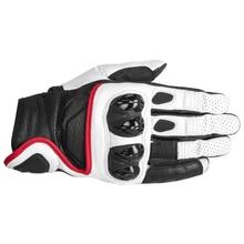 Team Genuine Leather Motorcycle Stars Short Gloves Racing Riding Motocross Gloves guantes para moto Full Finger недорого