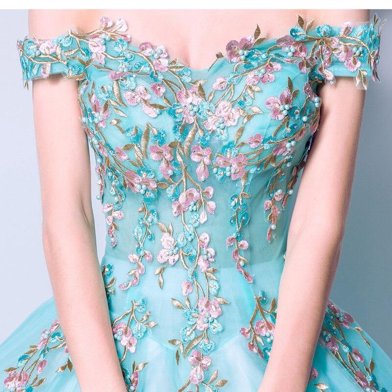 Charming fada princesa quinceanera vestidos fora do